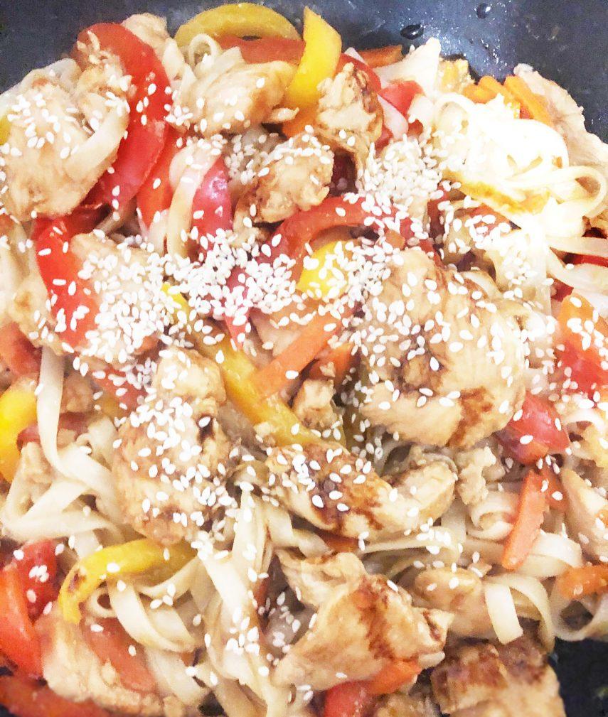 Фото рецепта - Лапша удон с курицей терияки - шаг 11