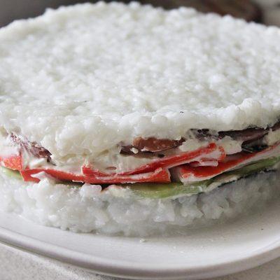 Суши-торт – на вкус как настоящие суши! - рецепт с фото