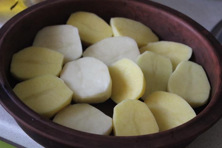 Фото рецепта - Запеченный картофель с копченым беконом - шаг 1