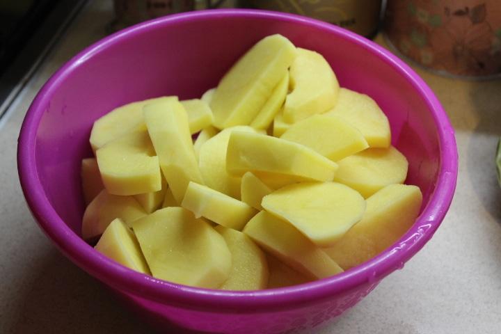 Фото рецепта - Картофель по-мексикански (овощной гарнир) - шаг 1