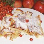 Пирог с яблоками из лаваша