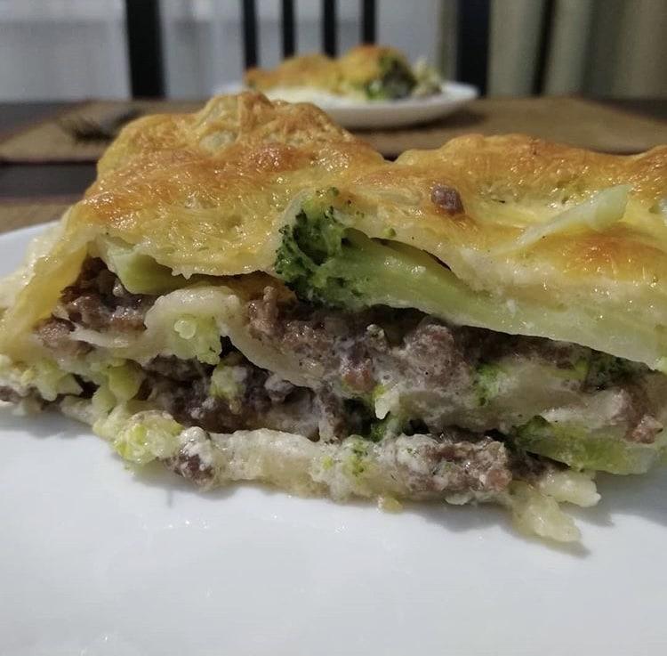Фото рецепта - Лазанья с фаршем и брокколи - шаг 4