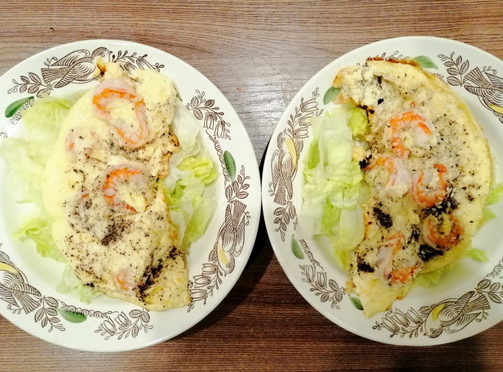 Фото рецепта - Омлет с креветками в мультиварке - шаг 4