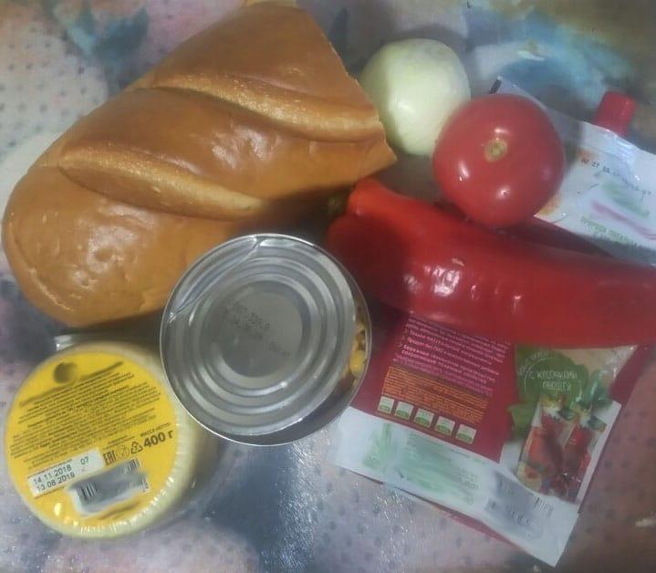 Фото рецепта - Вегетарианские бутерброды с перцем и томатом - шаг 1