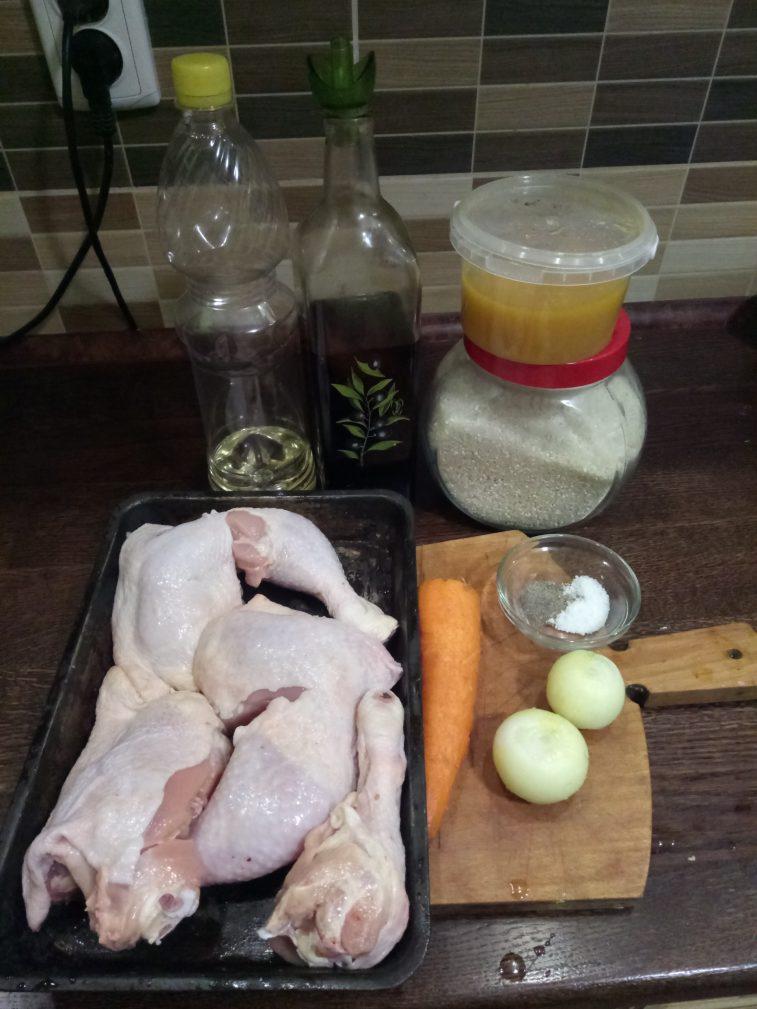 Фото рецепта - Рис с курицей в медовом маринаде - шаг 1