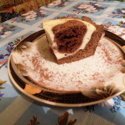 "Фото рецепта - Творожный заливной пирог ""Жираф"" - шаг 9"