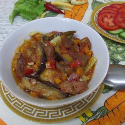 Фото рецепта - Овощное рагу со свининой в горшочках - шаг 17