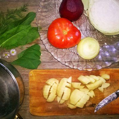 Фото рецепта - Вегетарианский борщ - шаг 2
