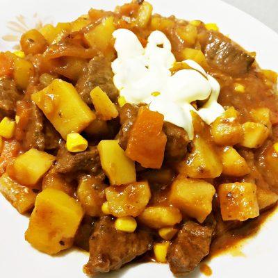 Горчичное рагу из говядины - рецепт с фото
