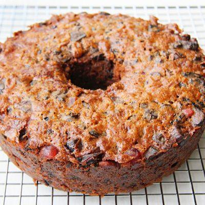 Рождественский кекс с сухофруктами и орехами - рецепт с фото