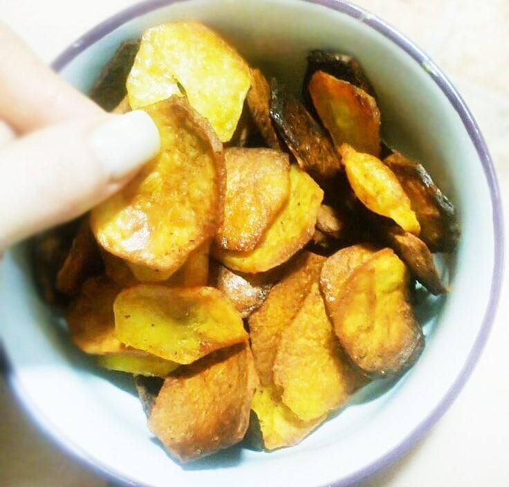 Быстрые домашние картофельные чипсы