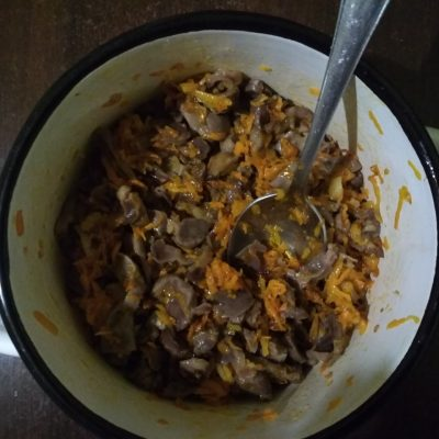 Фото рецепта - Куриные желудки по-корейски - шаг 6