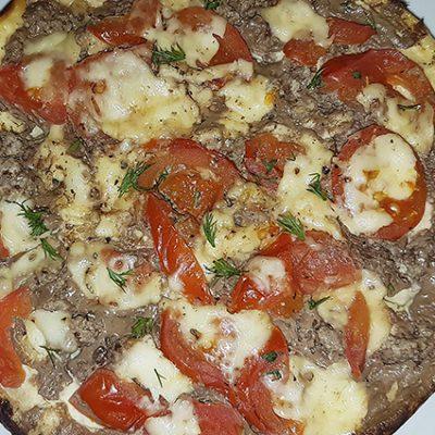 """Диетическая """"фальшивая"""" пицца на твороге, в мультиварке - рецепт с фото"""