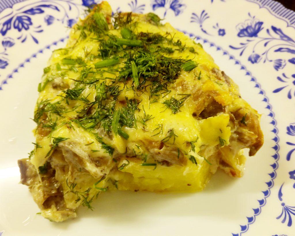 Фото рецепта - Картофельные дольки в грибном соусе (запеканка) - шаг 9
