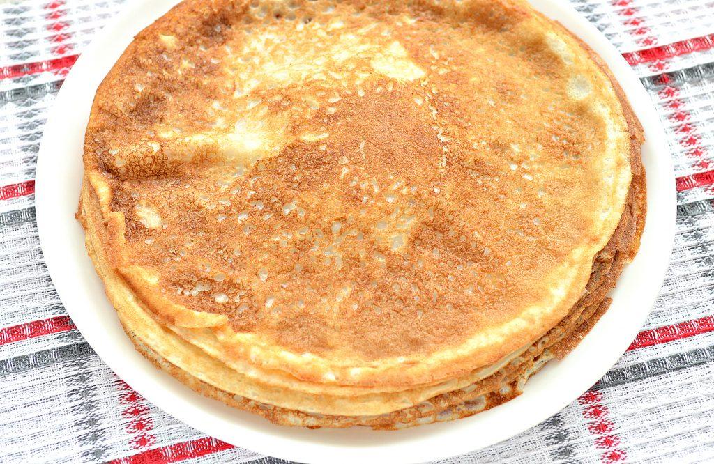 Фото рецепта - Блинчики, фаршированные сыром и курицей - шаг 1