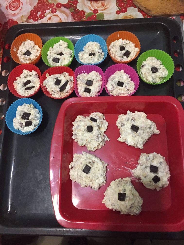 Фото рецепта - Творожно-овсяное печенье - шаг 7