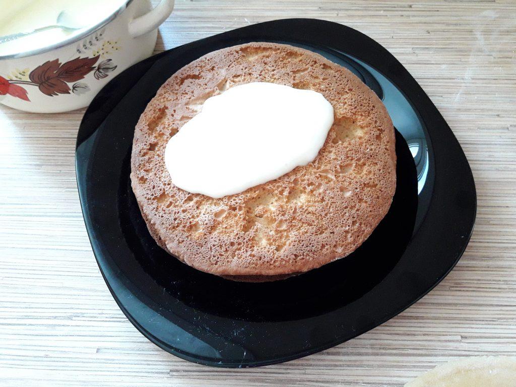 Фото рецепта - Торт Рыжик с заварным кремом - шаг 13