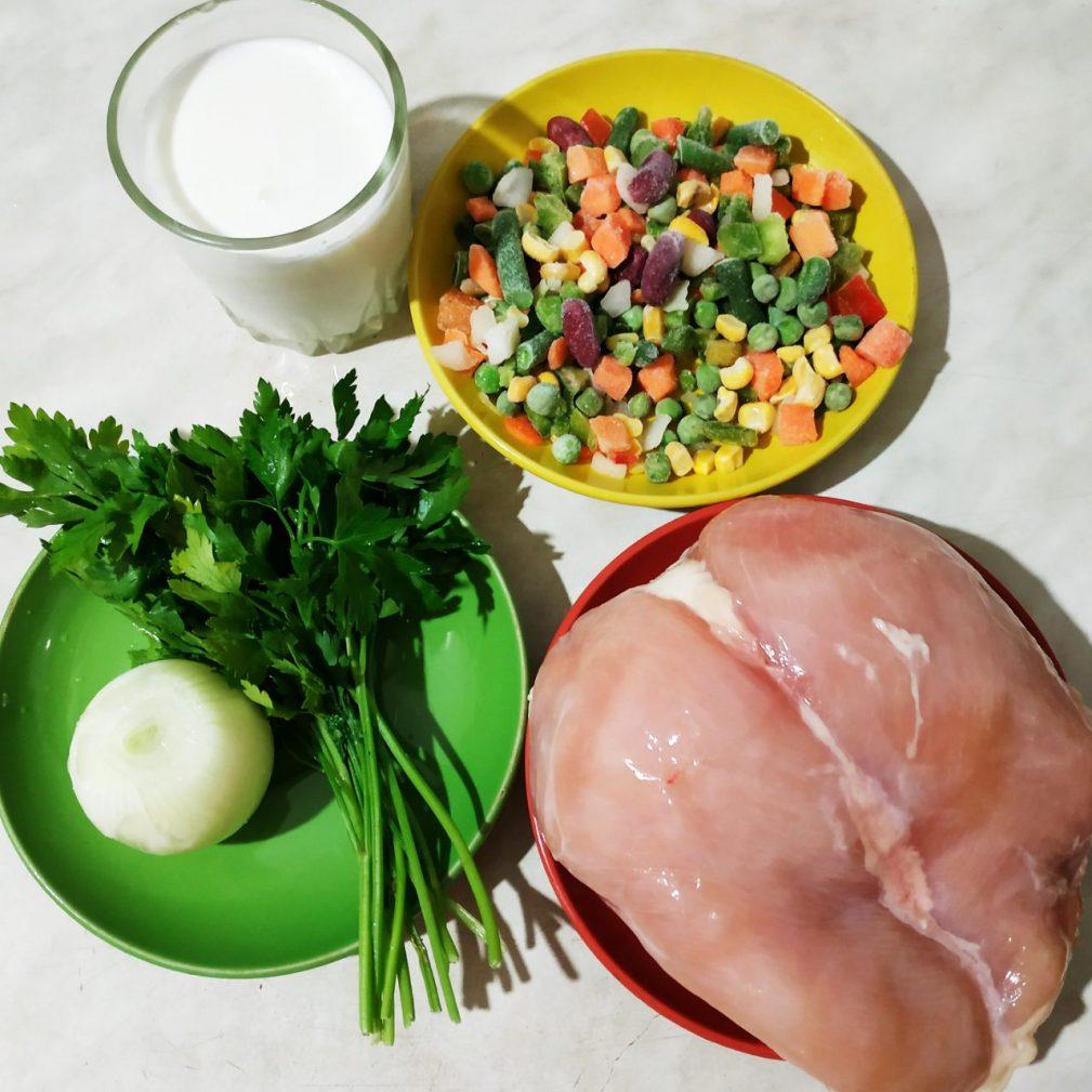 Фото рецепта - Куриное филе, фаршированное овощами (рулетики) - шаг 1