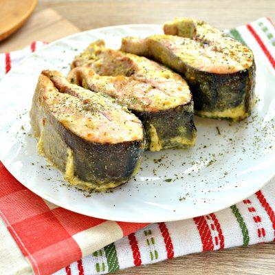 Горбуша, запеченная в духовке в майонезе - рецепт с фото