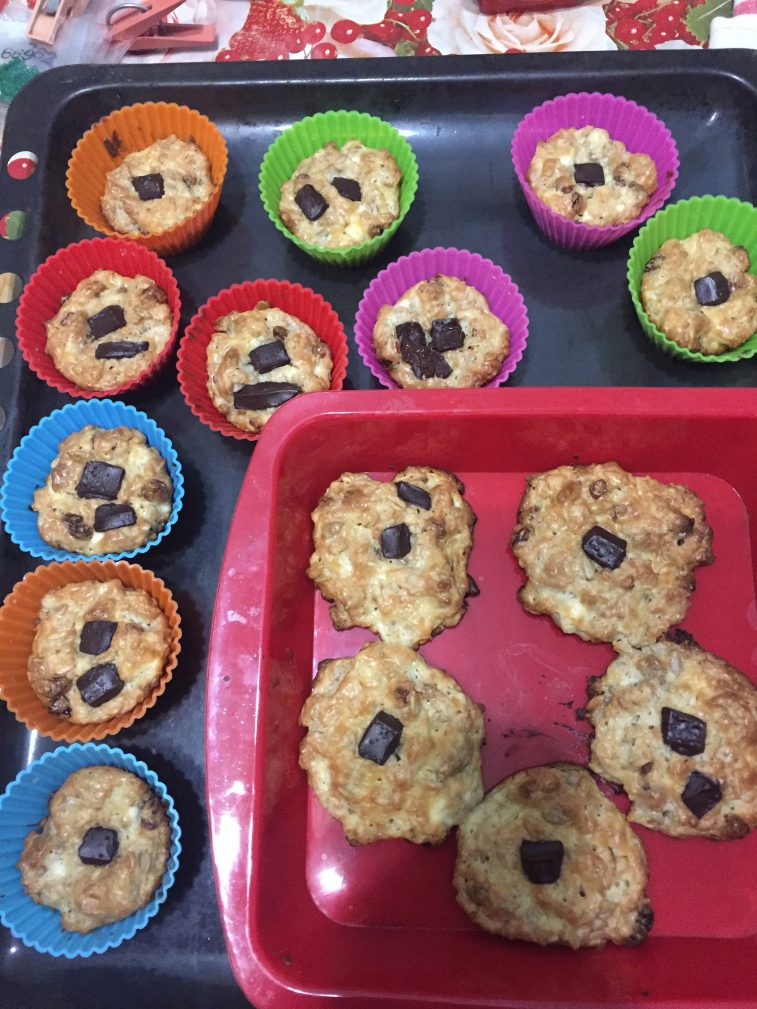 Фото рецепта - Творожно-овсяное печенье - шаг 8