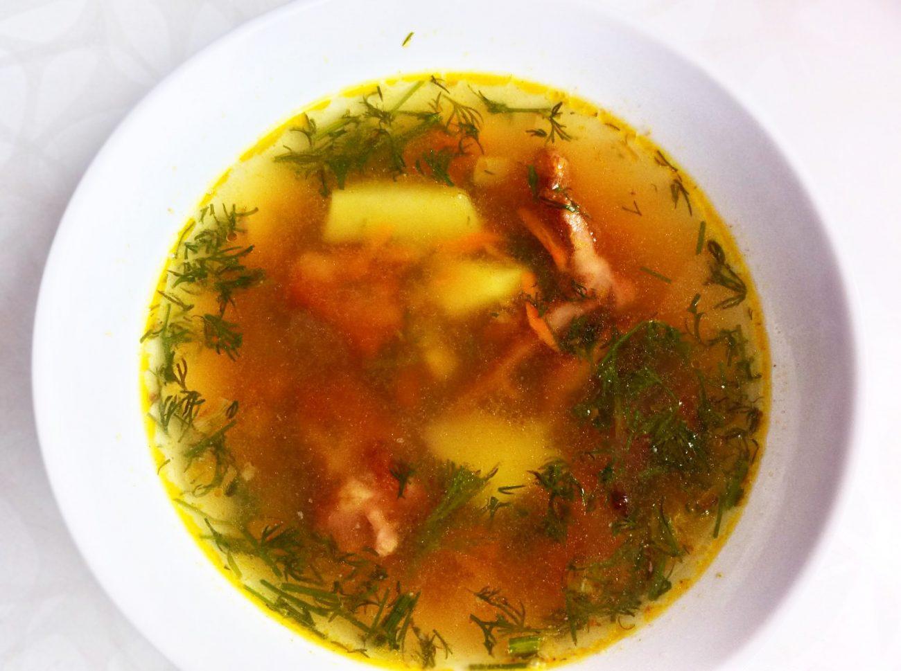 """Гороховый суп с копченными свиными ребрами """"Любимый"""""""