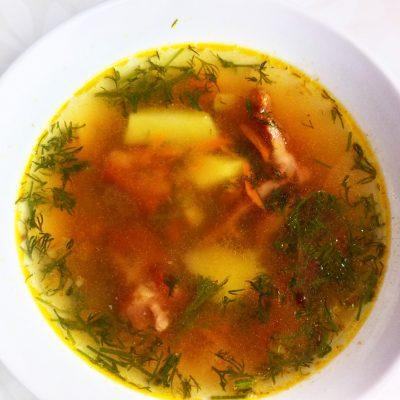 """Гороховый суп с копченными свиными ребрами """"Любимый"""" - рецепт с фото"""