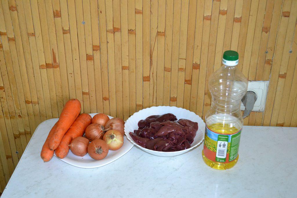 Фото рецепта - Паштет из куриной печени с овощами - шаг 1