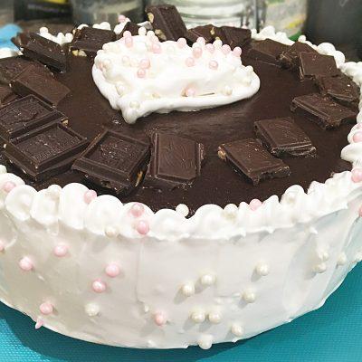 """Торт """"Птичье Молоко"""" на бисквитных коржах с бананом - рецепт с фото"""