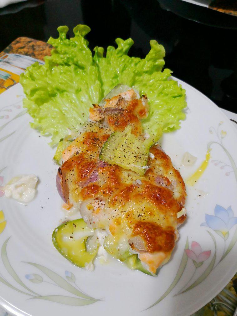Фото рецепта - Запеканка из кабачков с семгой по-итальянски - шаг 4