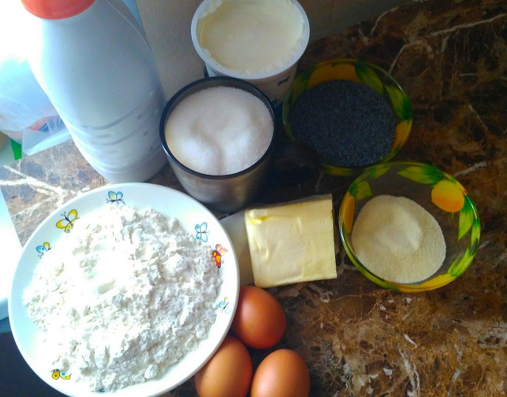 Фото рецепта - Пирог со сметанно-маковой начинкой из песочного теста - шаг 1
