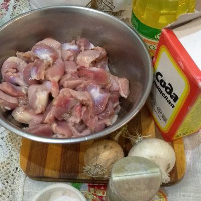 Фото рецепта - Нежные куриные желудочки – секрет приготовления - шаг 1