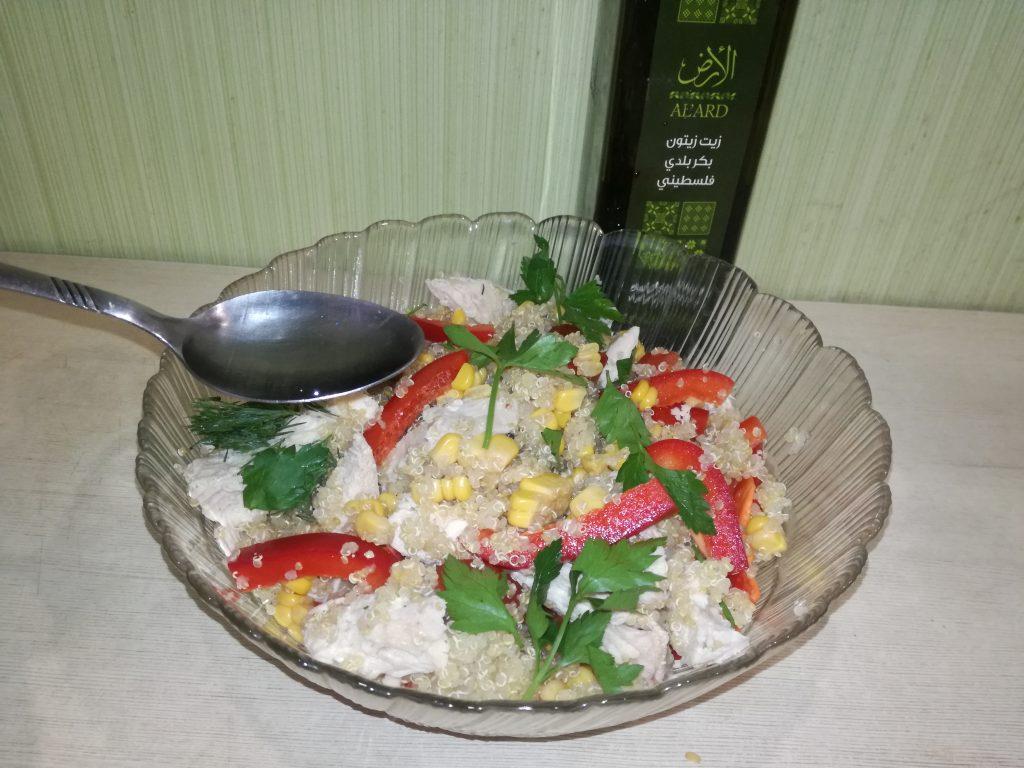Фото рецепта - Тёплый салат с курицей и киноа - шаг 6
