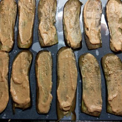 Фото рецепта - Баклажанно-кабачковые сэндвичи с сыром - шаг 4