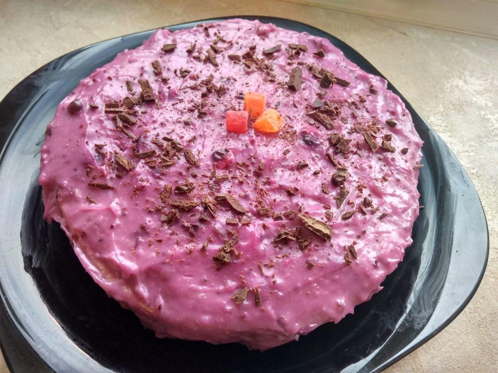 Фото рецепта - Недорогой заварной крем с ягодами - шаг 9