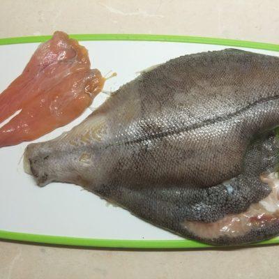 Фото рецепта - Камбала, запеченная с грейпфрутами и розмарином - шаг 1