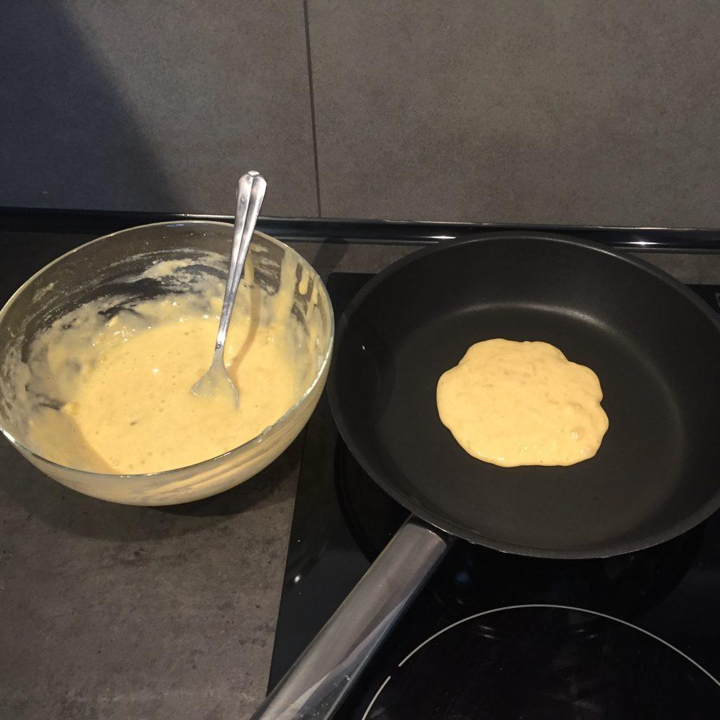 Фото рецепта - Банановые Панкейки - шаг 3