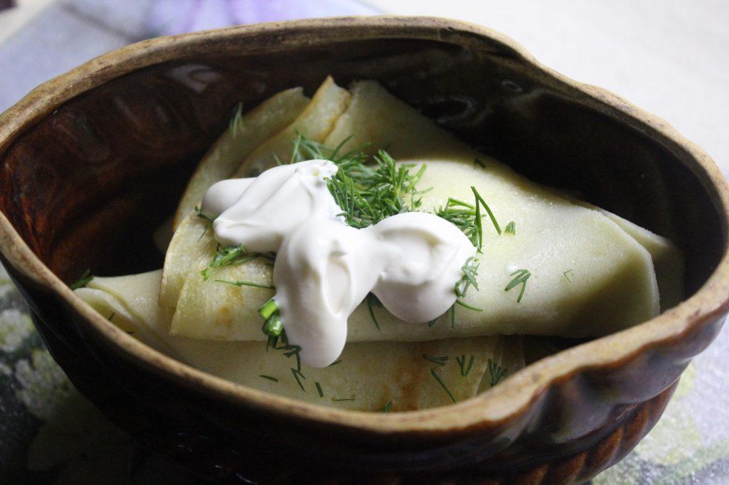 Фото рецепта - Запеченные блины с грибами и луком - шаг 8
