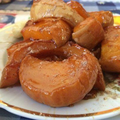 Тыква, запеченная с корицей в медово-ванильном сиропе - рецепт с фото