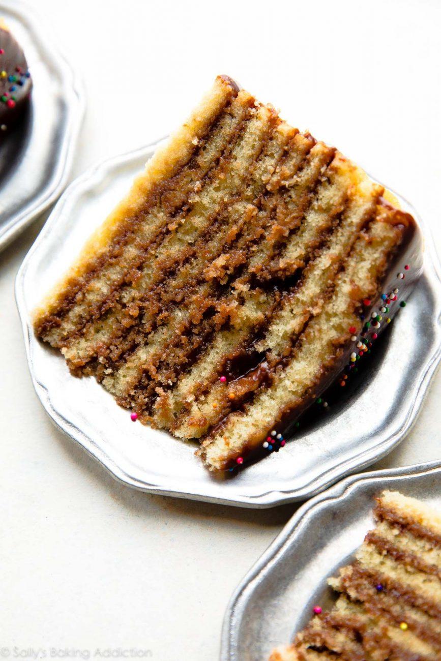 Слоеный шоколадный торт (на сковороде)