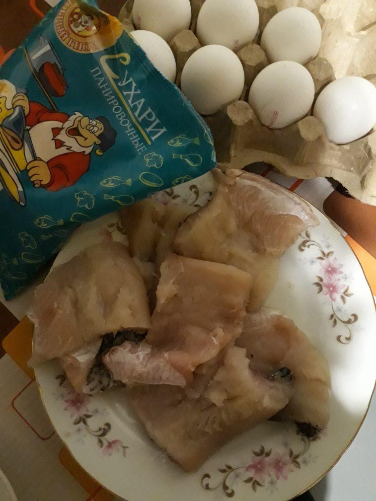 Фото рецепта - Жаренная рыбка в панировке с овощами - шаг 2