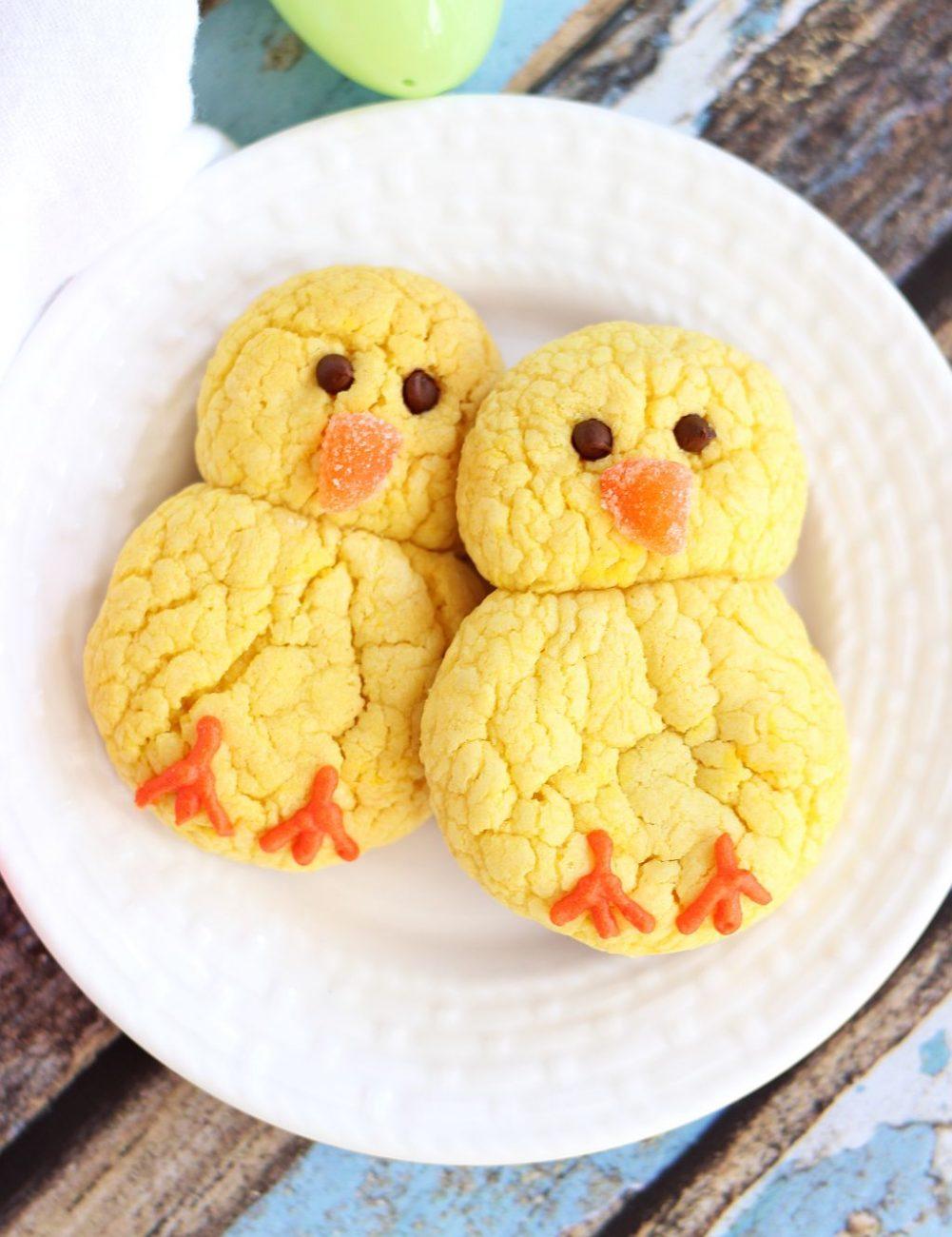 Лимонное печенье на Пасху в виде цыплят