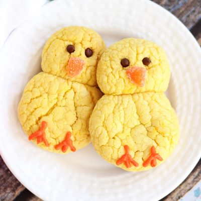 Лимонное печенье на Пасху в виде цыплят - рецепт с фото