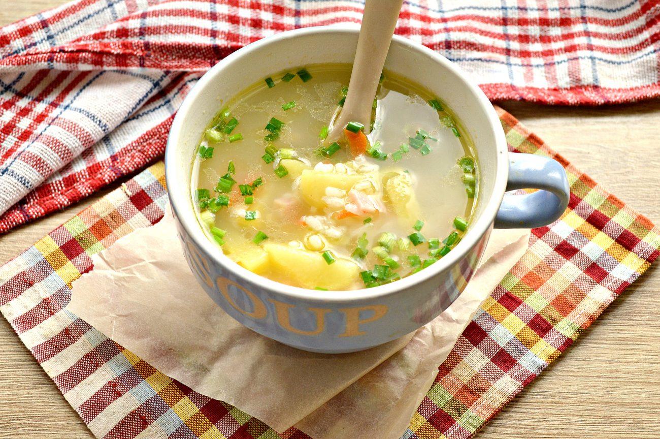 Рисовый суп с ветчиной