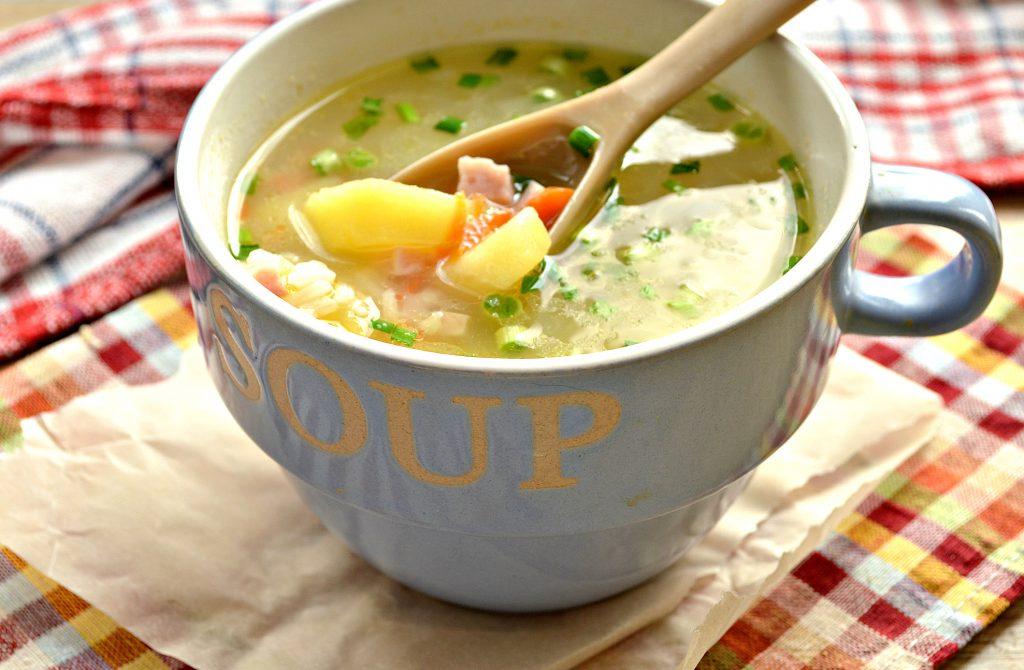 Фото рецепта - Рисовый суп с ветчиной - шаг 6