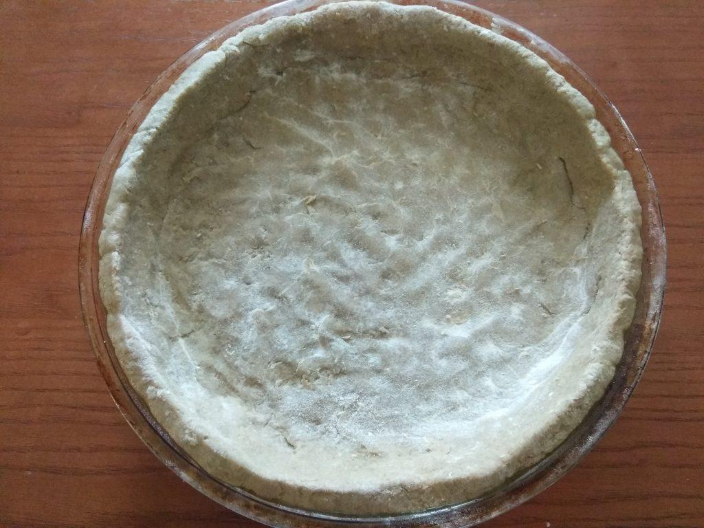 Фото рецепта - Картофельный киш с творогом и щавелем - шаг 4