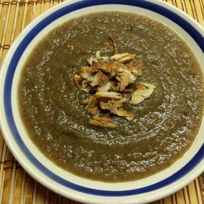 Суп-пюре из баклажанов на рыбном бульоне - рецепт с фото