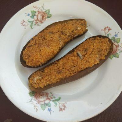Баклажаны, фаршированные килькой и пшеном - рецепт с фото