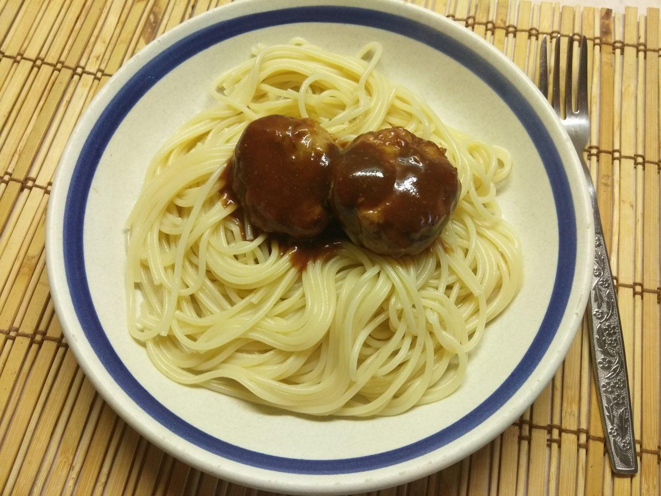 Митболы (тефтели) из свинины в кисло-сладком соусе