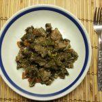 Рагу с спаржевой фасолью, баклажанами и свининой
