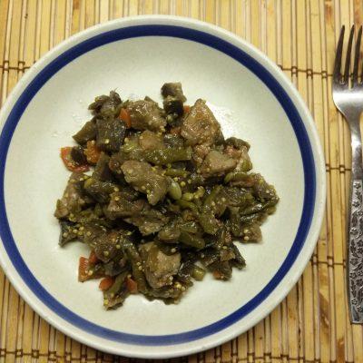 Рагу с спаржевой фасолью, баклажанами и свининой - рецепт с фото